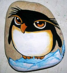 Easy paint rock for try at home (stone art & rock painting i Painted Rock Animals, Painted Rocks Craft, Hand Painted Rocks, Painted Stones, Rock Painting Patterns, Rock Painting Ideas Easy, Rock Painting Designs, Pebble Painting, Pebble Art
