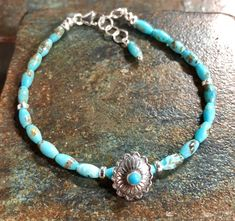 A personal favorite from my Etsy shop https://www.etsy.com/listing/581766270/turquoise-bracelet-arizona-turquoise