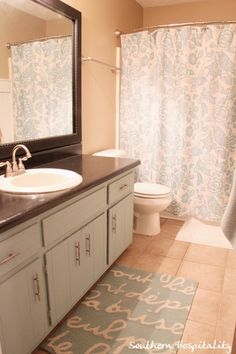 update 1970's bathroom | Southern Hospitality: remove cabinet