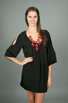 RESTOCK: Rainy Day Romance Dress-Black