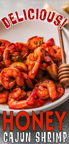 Amazingly flavorful and tender Honey Cajun Shrimp featuring a sweet & spicy sauce. This recipe is so easy to make you won't believe it. Homemade Cajun Seasoning, Homemade Seasonings, Roasted Corn Salad, Cajun Shrimp Recipes, Crockpot Chicken Thighs, Sweet And Spicy Sauce, Rice And Peas, Spanish Rice, Recipe Mix