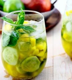 Mango-Cucumber Wine Cooler