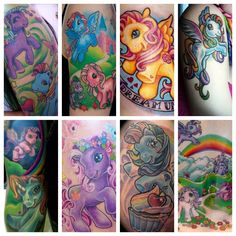Apparently My Little Pony tattoos are a thing ATM. Cute (wouldn't get one myself though)
