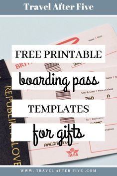5 Free Boarding Pass Templates for Gifts Boarding Pass Template, Boarding Pass Invitation, Ticket Template Free, Templates Printable Free, Event Ticket Template, Cruise Tickets, Airline Tickets, Surprise Disney, Printable Tickets