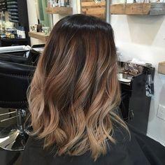 Balayage on Dark Hair + Lob Haircut