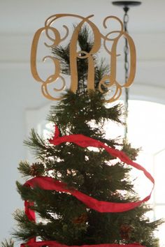 Monograms - Christmas Tree Toppers - Southern Nest