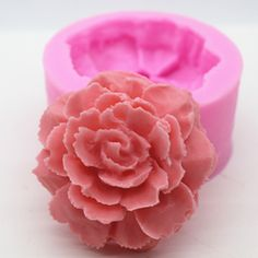 sale new product1pcs peony flower c801food grade silicone handmade soap mold crafts diy #peony #flower