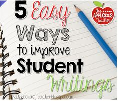 Easy Ways to Improve Student Writings Great post outlining 5 ridiculously easy ways to improve your student's writings. Will def have to implement some of these in my writing workshop!Implementer Implementer may refer to: Writing Classes, Writing Lessons, Writing Workshop, Teaching Writing, Writing Skills, Writing Activities, Teaching Ideas, Writing Services, Writing Resources