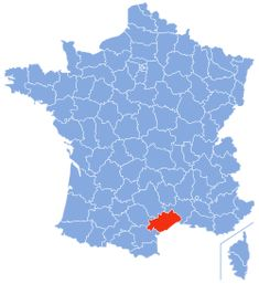 Location of the Hérault in France