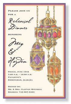 moroccan inspired party invitations   First up, invitations. I'm in love with the first one and ready to ...