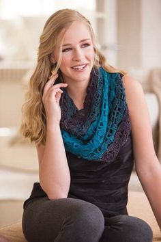 I am in love with this crochet cowl. Crochet So Lovely: Lace Crochet Cowl