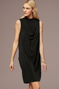 Buy Black Soft Cowl Back Dress from the Next UK online shop