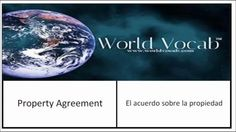 Property Agreement - El acuerdo sobre la propiedad Spanish Word Of The Day #236 Spanish Vocabulary Practice https://video.buffer.com/v/5722318633409aba294766e7