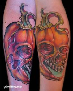 ... Cool-Pumpkin-Halloween-Inspired-Temporary-Tattoo-Designs-Ideas-2014-2