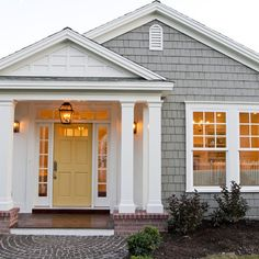 Yellow Front Door Design Ideas, Pictures, Remodel, and Decor