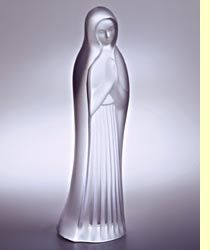 ... FRANCE MARY MADONNA BLESSED VIRGIN ART GLASS FIGURINE SCULPTURE