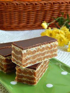 Jekin kapric : Posne jaffa oblatne Sweet Desserts, No Bake Desserts, Dessert Recipes, Baking Recipes, Cookie Recipes, Posne Torte, Fashionista Cake, Peanut Cake, Kolaci I Torte