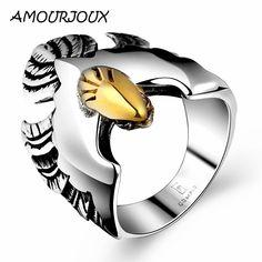 b96665f67cd  2.28 - 316L Stainless Steel Steam Men s Punk Ring Gothic Rings Skull Cool  Men s Jewelry  ebay  Fashion
