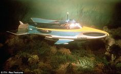 Famous craft: Mr Anderson's show Stingray was set in 2065 and featured the World Aquanaut Security Patrol preserving world peace in the oceans