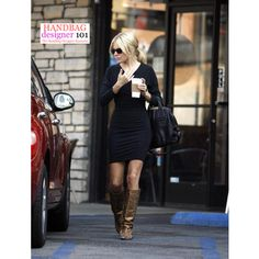 sienna miller style Black dress, brown boots love it Dress With Boots, Dress And Heels, Cute Fashion, Fashion Looks, Womens Fashion, Pretty Outfits, Cool Outfits, Sienna Miller Style, Swagg