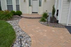 www.SharperCut.com - Waldorf, MD - improved curb appeal with new entry way using planting design and belgard hardscapes Entry Ways, Plant Design, Curb Appeal, Planting, Patio, Outdoor Decor, Home Decor, Plants, Terrace