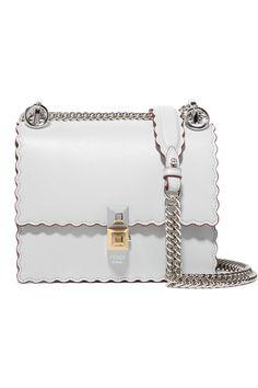 2a64e7f8d554 Kan I Mini Scalloped Leather Shoulder Bag - Gray - Fendi Shoulder bags