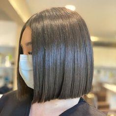 Short Blunt Haircut, Long Bob Haircuts, Long Blunt Bob, Asian Short Hair, Short Hair Cuts, Short Hair Styles, Lob Hairstyle, Blunt Hairstyles, Cheer Hair Poof