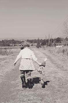 Kids outdoor photography, little girl