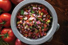 Fresh Tomato Salsa (pico style) - love this one, because you just throw everything in the food processor -- done.