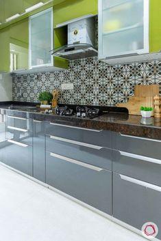 Simple Kitchen Cabinets, Simple Kitchen Design, Kitchen Cupboard Designs, Kitchen Room Design, Flat Interior Design, Interior Design Kitchen, Kitchen Modular, Small Modern Kitchens, Kitchen Small