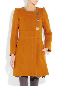 Unexpected orange - get rid of the silvertone closures (nail polish) and gorgeous