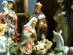 Please visit my shop on Etsy.  Vintage nativity scene / nativity set / by cgraceandcompany