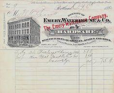 Landofnodstudio's: Free Image Friday 1890's Bill Heads