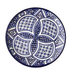Imports from Marrakesh Ltd. - Fez dinner plate ~ quartefoil, $65.00 (http://www.importsfrommarrakeshshop.com/fez-dinner-plate-quartefoil/)