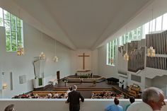 lahti - church of the cross 10 Alvar Aalto, Conference Room, Table, Architects, Piano, Furniture, Home Decor, Temples, Interiors