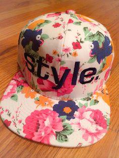 Snapback Hat Floral Presale Item by trucksandpearls on Etsy New Era Snapback, Snapback Hats, Dope Hats, Flat Hats, Snap Backs, Headgear, Dance Wear, Sneakers Fashion, Designer