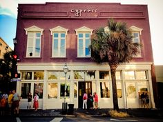 Actual birthday dinner on 1/5/15. Burger night! With da Bee.  Cypress restaurant in Charleston, South Carolina