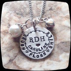 Dentist Jewelry, RDH, Dental Hygienist Necklace, Dental Office Professional Gift, Dental Graduation