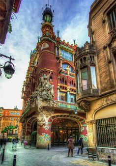 Palau de la música Catalana, Barcelona España