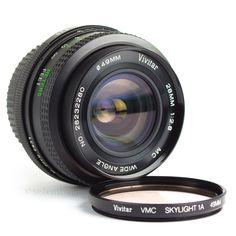 Vivitar 28mm f2.8 Wide Angle Lens MC Pentax K PK Fit DSLR Adaptable EOS MFT