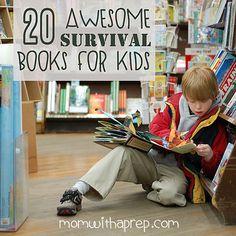 20 Awesome Survival Books for Kids  | #preparedness #survival #kids #skills