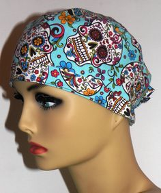 Unisex/Mens Surgical Scrub Hat Cap with Ties by MyEclecticSoul, $12.99