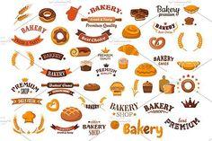 Bakery shop design elements. Premium Icons. $12.00
