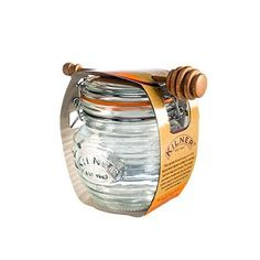 The stylish Kilner honey pot complete with beech wood dipper is ideal for storing and serving your honey. Also versatile for preserving and pickling any fruits and vegetables. Honey pot features a cli Honey Packaging, Jar Packaging, Food Packaging Design, Beverage Packaging, Honey Shop, Milk And Honey, Jar Design, Bottle Design, Honey Bottles