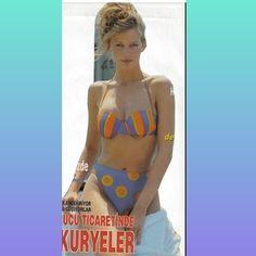 Claudia Schiffer, Bikinis, Swimwear, Fashion, Bathing Suits, Moda, Swimsuits, Fashion Styles, Bikini