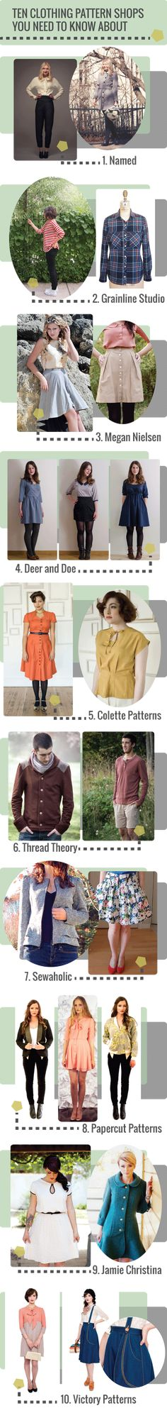 ten clothing pattern shops you need to know about