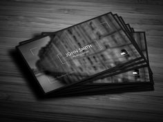 Photographer Business Card 02 by Awns Creators on Creative Market                                                                                                                                                      Más