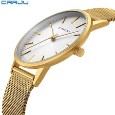 Watches Special Section Zegarki Hot Sale Fashion Simple Design Geneva Unisex Quartz Watch Golden Silver Metal Mesh Band Stainless Steel Lady Dress Clock We Have Won Praise From Customers