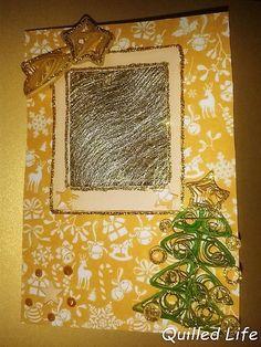 Quilled Life: Złote Święta #quilling #diy #christmas #christmascard #handcraft #handmade