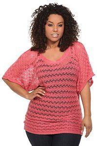Pink Crochet Dolman Open Stitch Sweater $44.50  I want this to remix my wardrobe pieces.